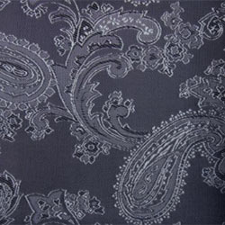 Paisley White on Black - 55% Polyester 45% Viscose - D001