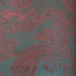 Paisley Red on Black - 55% Polyester 45% Viscose - D004