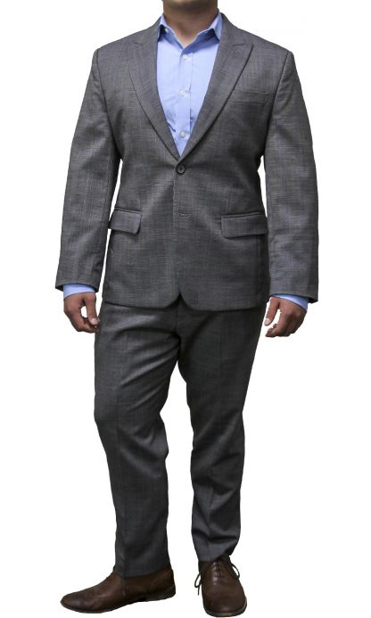 Light gray checkered suit
