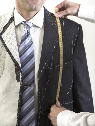 Bespoke tailor fitting